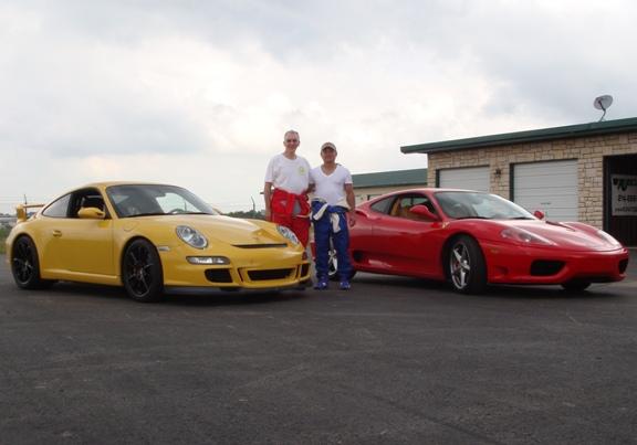 Tu and Rocky Ferrari 360 and Porsche GT3